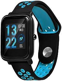 b9d5b0b63540 Espeedy Reloj correa de silicona de reemplazo correa de reloj para Xiaomi  Huami Amazfit edición juvenil