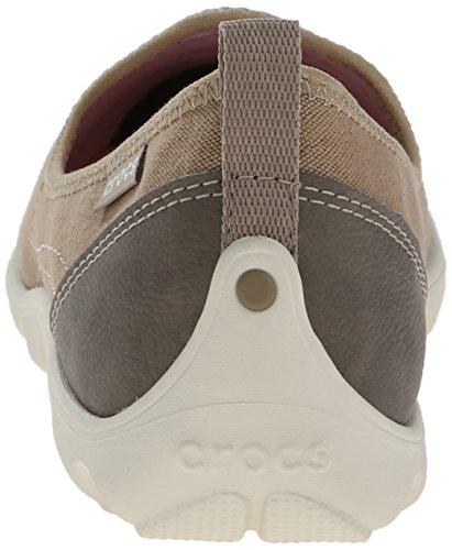 Crocs Beschäftigter Tag-Leinwand-Schuh Khaki/Stucco