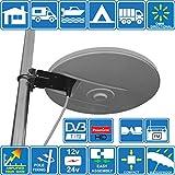 Helio - Antena de TV HD Digital omnidireccional con 33dB Incorporado en Amplificador para TDT FM Dab. Fuente de alimentación de 12V / 24V para Autocaravanas Camiones Caravanas Barcos por Unispectra