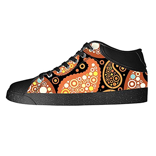 Dalliy Farbige Paisley-Print Men's Canvas shoes Schuhe Lace-up High-top Sneakers Segeltuchschuhe Leinwand-Schuh-Turnschuhe (Wei Leinwand Turnschuhe)