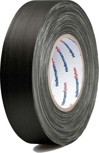 HellermannTyton Gewebeklebeband HelaTape Tex Schwarz (L x B) 50 m x 50 mm Kautschuk Inhalt: 1 Rolle