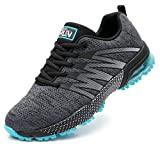 Axcone Damen Herren Sneaker Laufschuhe Air Sportschuhe Kletterschuhe Turnschuhe Running Fitness Sneaker Outdoors Straßenlaufschuhe Sports 8995 GY 41EU