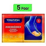 TerraTherm Zehenwärmer selbstklebend, Fußwärmer Pads für 8h warme Füße, Zehenwärmer Pads als auch Zehen-Wärmepads passen für alle Schuhe und sind extra dünn und angenehm weich, Wärmepads Füße; 5 Paar