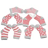 VWH Baby Pure Cotton Socken Jungen Baumwolle Mädchen Söckchen mit Muster Kindersocken (Wassermelone rot)