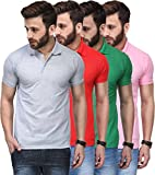 T.N.X Men's Regular Fit Polos (Pack of 4)