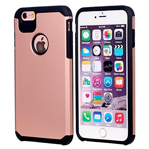 UKDANDANWEI iPhone 6 / 6s Dual Layer Fallschutz Anti-Scratch Rugged Armor Defender Case Tasche Schutzhülle für iPhone 6 / 6s - Schwarz Beige