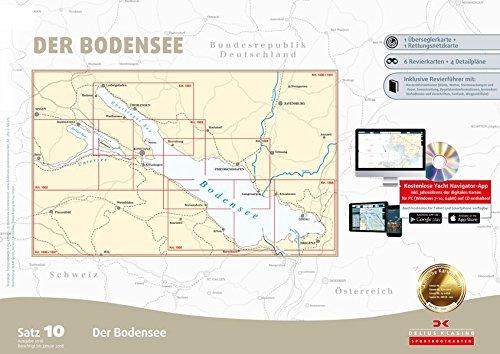 Sportbootkarten Satz 10: Bodensee (Ausgabe 2018)