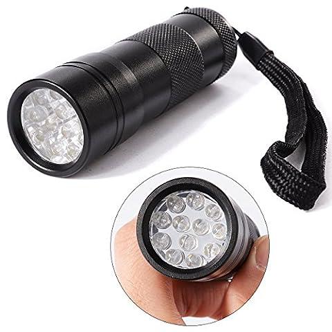 Xcellent Global Lampe de poche torche UV Ultra Violet 12