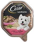 Cesar Hundefutter Nassfutter Landküche Kalb und Truthahn, 14 Schalen (14 x 150 g)