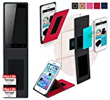 Gionee P5w Hülle Cover Case in Rot - innovative 4 in 1