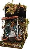 Joy Christmas Pastore per Presepe in Movimento 14 cm x 9 cm Donna con Bilancia