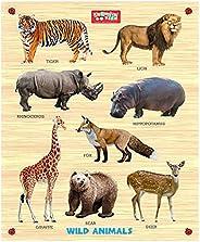 Zitto Premium Wooden Wild Animals Educational Puzzle Toy