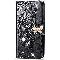 Funda de cuero para [Huawei Mate 20 Lite] Funda magnética de cuero de la PU con ranuras para tarjetas Bookstyle Wallet Case para Huawei Mate20 Lite - JESD040570 Negro