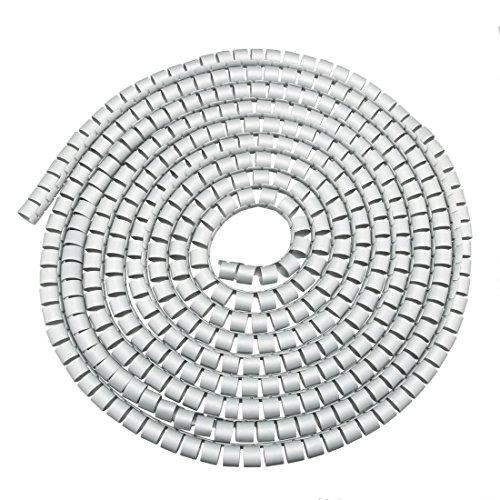 sourcing map 16mm Flexibel Spiral Rohr Kabel Draht Computer Verwalten Schnur Grau 5M de -