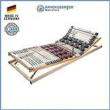 RAVENSBERGER DUOMED® 7-Zonen-Teller-LEISTEN-BUCHE-Lattenrahmen   Verstellbar   Made IN Germany - 10 Jahre GARANTIE   TÜV/GS + Blauer Engel - Zertifiziert   90 x 200 cm