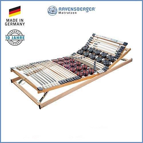Ravensberger Matratzen DUOMED Lattenrahmen in verschiedenen Größen (90 x 200 cm, Buche Verstellbar)