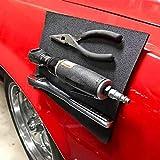 OOOUSE Mag-Pad - Herramientas de fijación magnéticas, soporte magnético flexible para herramientas, almohadilla magnética para reparación de coche, herramientas de sujeción, tornillos, clavos, pernos, brocas. (11×8 pulgadas, negro)