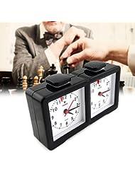 Shsyue® Reloj de Ajedrez de Cuarzo Temporizador de Cuenta Atrás para Temporizadores de Competición de Juegos