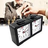 Shsyue Reloj de Ajedrez de Cuarzo I-Go Reloj Temporizador de Cuenta Multifuncional Atrás para Temporizadores de Competición de Juegos