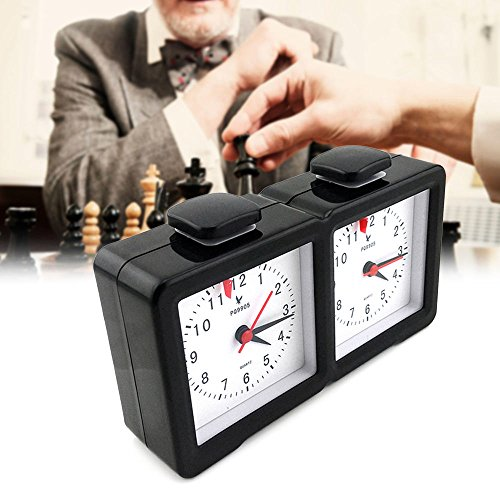 Shsyue Reloj Ajedrez Cuarzo I-Go Reloj Temporizador