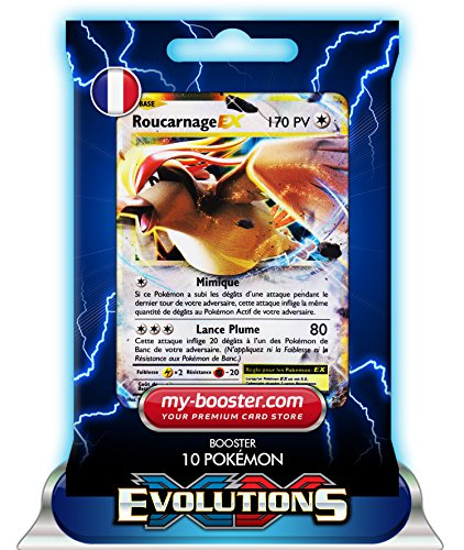 ROUCARNAGE EX 64/108 170PV XY12 EVOLUTIONS - Booster de 10 cartes Pokemon francaises my-booster