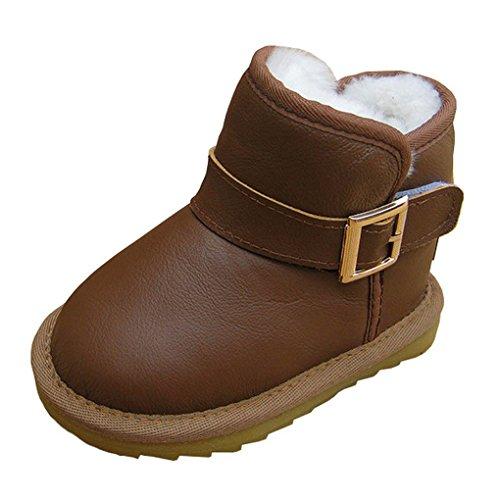 ACMEDE Mädchen Jungen Schlupfstiefel warm gefüttert Stiefel Winterboots (Acme-kinder Stiefel)