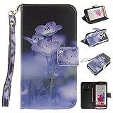 Nancen LG G3 / D858 (5,5 Zoll) Handytasche/Handyhülle. Flip Etui Wallet Case in Bookstyle - Premium PU Lederhülle Hülle Cover Mit Lanyard/Strap, Standfunktion