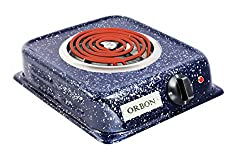 Orbon 1250-Watt G Coil Radient Cooktop With ON-OFF Indicator & 2 Mtr. Heavy Duty 16 Amp. Wire Cord ( With FREE SHIPPING and Updated GST Rates )