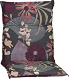 Beo Gartenstuhlauflage Polster Aquarell Blumenmotiv M705 für Niederlehner Grau Hellgrau Beige Brombeer