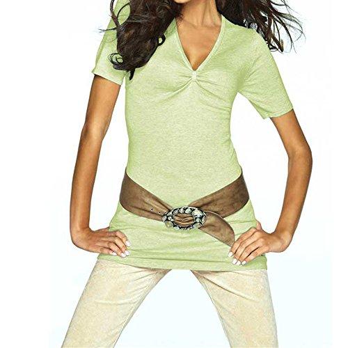 Feinstrick Shirt aus Seide und Kaschmir ET-163 Pistazie