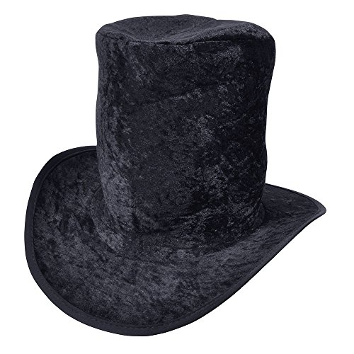 Musikalische Themen Halloween Kostüm - Bristol Novelty bh339 Top Hat Velvet Black,