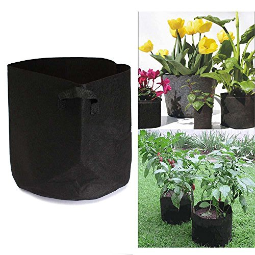 EliaSan Home Runde Stofftöpfe Pflanzentasche Wurzelbehälter Wachsen Beutel Belüftungstopfbehälter -