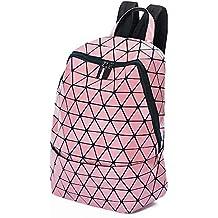 2f3a8337bef43 Mode-Rucksack geometrische Lingge glänzend leuchtende Runde Dreieck  Rucksack Damen Tasche große Kapazität College-