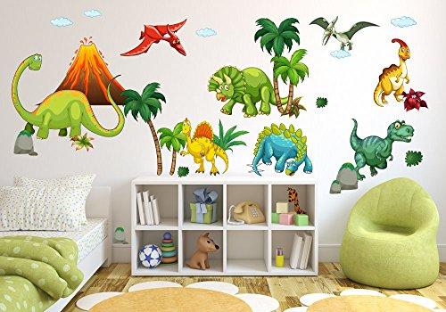 017 Wandtattoo Wandbild Kinderzimmer Dinosaurier T Rex Urzeit Brachiosaurus  In 6. Größen