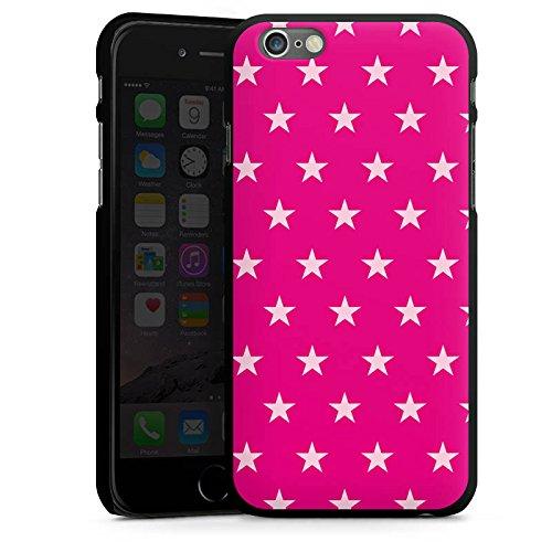 Apple iPhone 5s Housse Étui Protection Coque Étoile Rose vif Motif CasDur noir