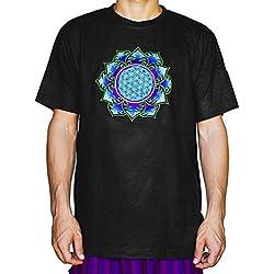 Camiseta de Mandala Azul para hombre
