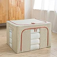 wangshang Boîte de rangement en tissu Oxford avec cadre en acier, résistante à l'humidité et à l'humidité pour draps…