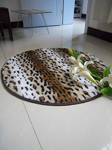 Carpet nest Elegante Suave y cómodo Alfombra de Silla de Ordenador Alfombras Redondas Alfombra de Cama Alfombras de Leopardo Europeo Moderno
