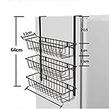 Joo Kühlschrank Rack Side Wall Seite Seite Lagerregal Kühlschrank Küche Gewürzregal Kostenlose Perforierte Kühlschrank Rack (Farbe : #2)