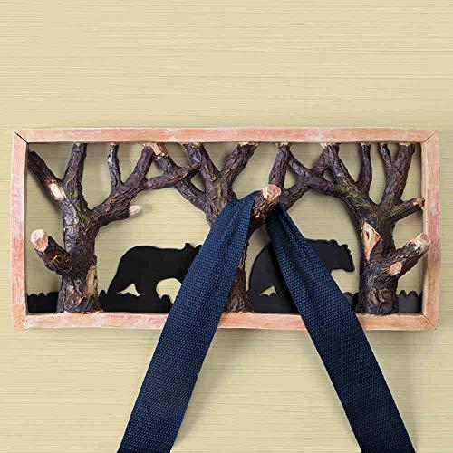 MVW Handwerk Dekoration-Wald Tier Haken kreative Wand Harz Tür hinter der Wand Haken Kleiderhaken Handtuchhalter Haken (Farbe: 1001)