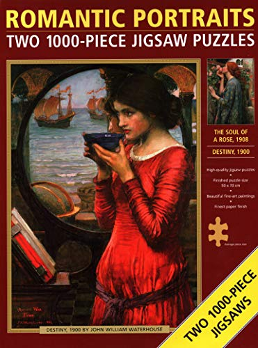 Jigsaw: Romantic Portraits (double): Two 1000-piece jigsaw puzzles: 'The Soul of a Rose' and 'Destiny' by John William Waterhouse.