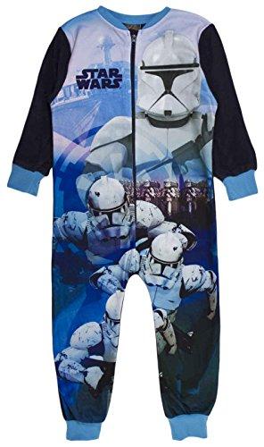 Kinder Mädchen Fleece-Character Einteiler Schlafanzug PJ 's Größe UK 1–8Jahren Gr. 5-6 Jahre , Star Wars - Clone Trooper (Mädchen Aus Star Wars)