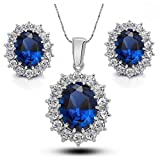 Crunchy Fashion Blue Sapphire Jewel Set