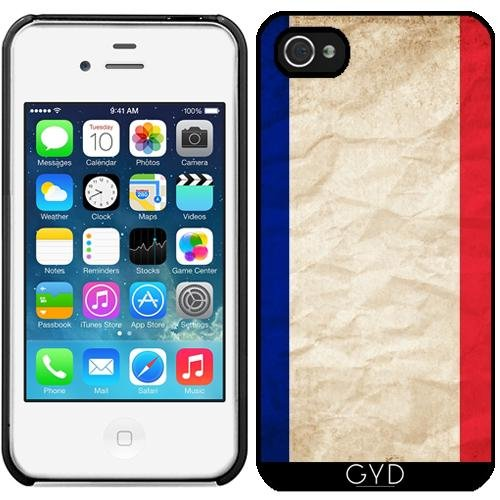 Leder Flip Case Tasche Hülle für Apple iPhone 6/6S - Frankreich Paris Flagge by WonderfulDreamPicture Starre Kunststoff