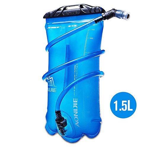 Imagen de bolsa de agua plegable, de tpu, para hidratación durante deportes al aire libre como correr, camping, senderismo, bicicleta, de 1,5 l, 2l, 3l, de aonijie, 1.5 l