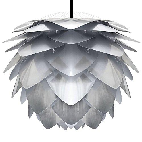 VITA-lampe design silvia steel-hauteur : 45 cm + câble de suspension et suivant (noir)