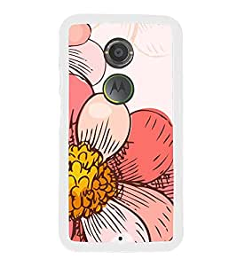 Fiobs Designer Back Case Cover for Motorola Moto X2 :: Motorola Moto X (2nd Gen) (Floral Pattern Design Pink Love Beautiful)