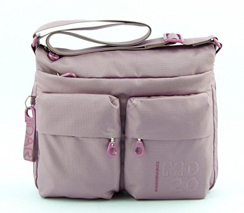 Shoulder bag expandable Mandarina Duck MD20 MTX6 Phlox Pink