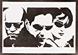The Matrix Neo Trinity And Morpheus Poster Handmade Graffiti Street Art - Artwork