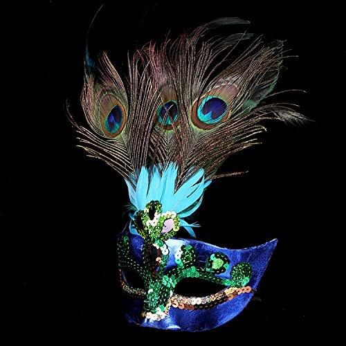 Gudhi Künstliche Pfau Maske Halloween Cosplay Kostüm Masquerade Party Maske